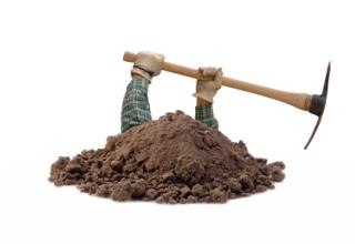 Dig hole